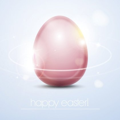 Shiny Easter Egg Free Vector