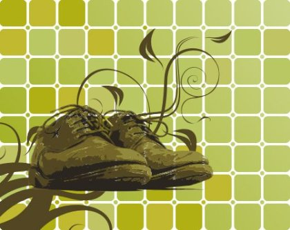 Shoes and Swirls Free Vector