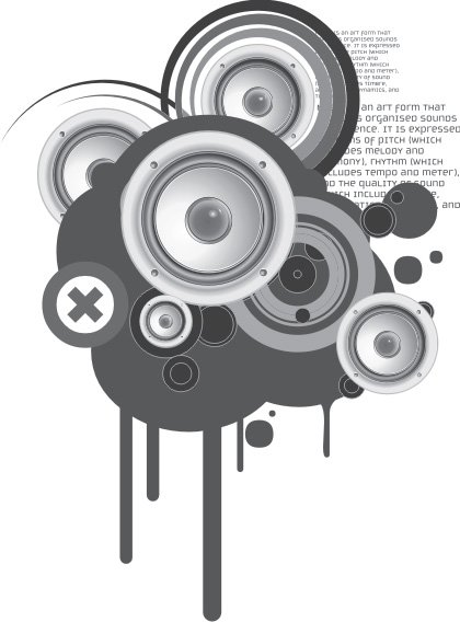 Sound system Free Vector