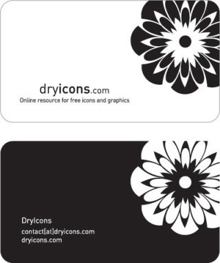 Stylish business card template Free Vector