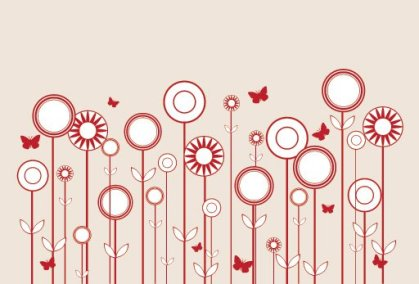 Stylized Flowers Free Vector