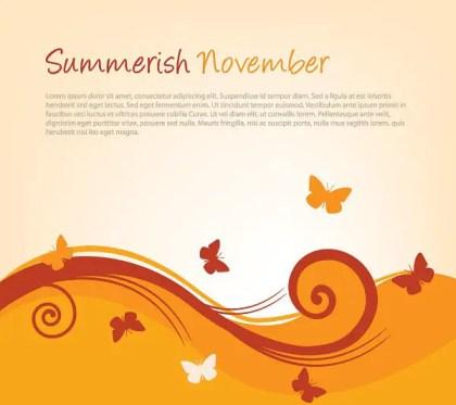 Summerish November Free Vector