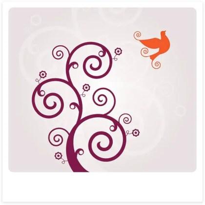 Swirly Bird Vector Free Vector