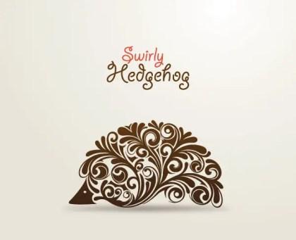 Swirly Hedgehog Free Vector