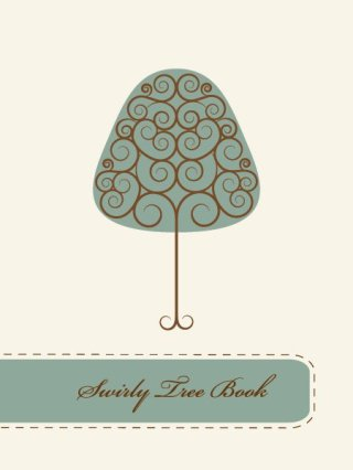 Swirly Tree Book Free Vector