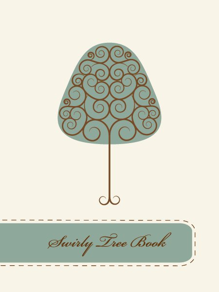 Swirly Tree Book Free Vector