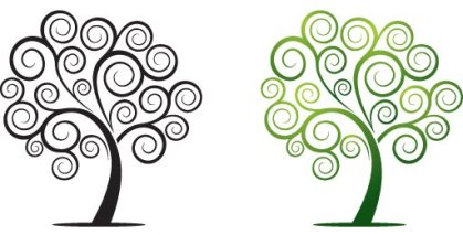 Swirly Tree Free Vector
