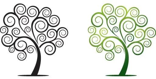 Swirly Tree Free Vector