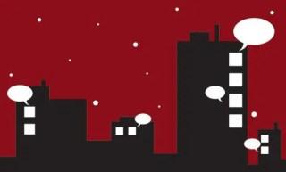 Talking Buildings Free Vector