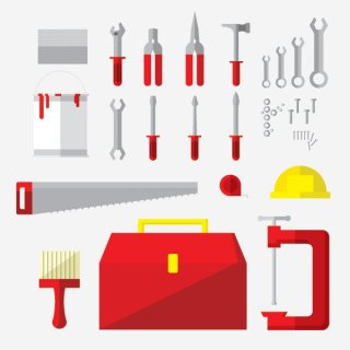 Tools Flat Icons Free Vector