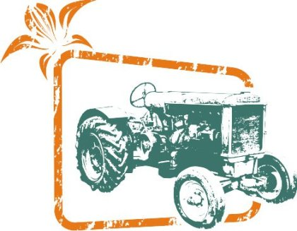 Tractor out of frame Free Vector