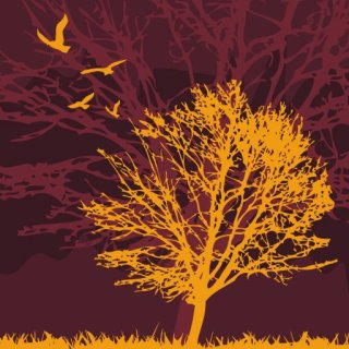 Tree and birds Free Vector