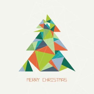 Triangular Christmas Tree Free Vector