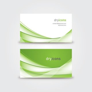 Wavy Business Card Free Vector