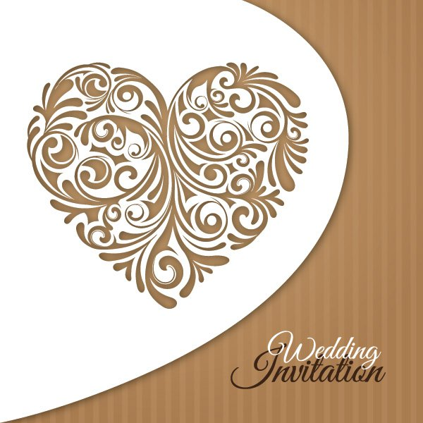 Wedding Invitation Card Free Vector Preview