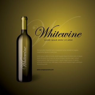 Whitewine Bottle Free Vector