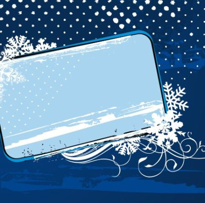 Winter frame Free Vector