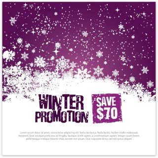 Winter Promotion Template Free Vector