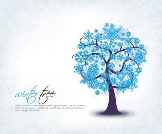 Winter Tree Free Vector