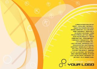 Yellowish Flyer Free Vector