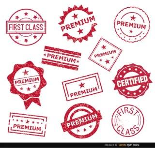 11 Premium Stamp Seals Free Vector