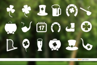 18 St. Patricks Day Icons Free Vector