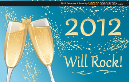 2012 Deserves A Toast Free Vector