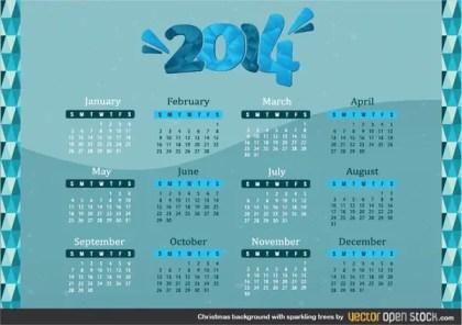 2014 Calendar Free Vector