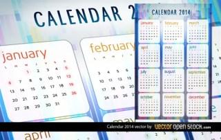 2014 Calendar Vector Free Vector