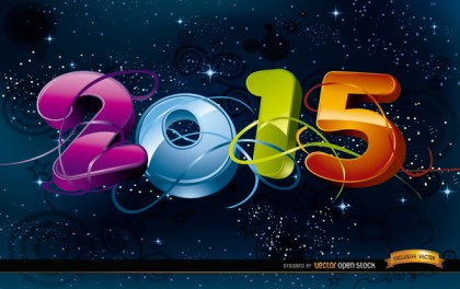 2015 Celebration In Space Background Free Vector