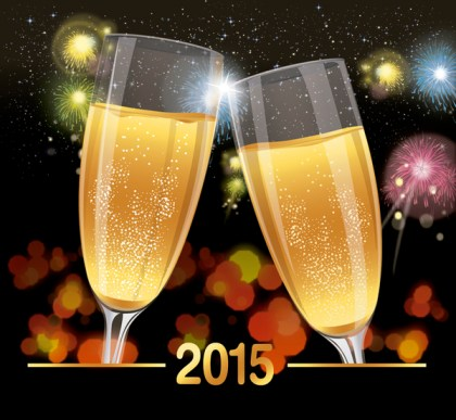 2015 Celebration Toast Background Free Vector