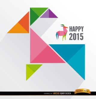 2015 Colored Triangles Goat Background Free Vector