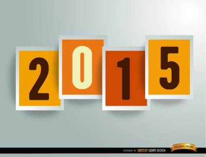 2015 Digits In Frames Background Free Vector