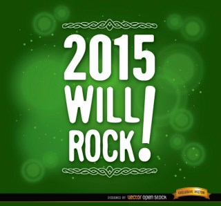 2015 Message Green Background Free Vector