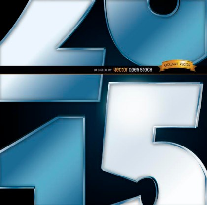 2015 Number Close View Background Free Vector