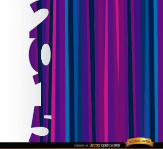 2015 Vertical Purple Blue Bars Background Free Vector