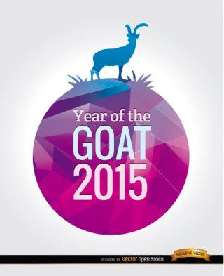 2015 Year Of The Goat Background Free Vector