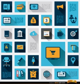 26 Business Information Icons Free Vector