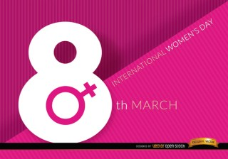 8Th March Womens Day Background Free Vector