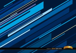 Abstract Blue Oblique Lines Background Free Vector