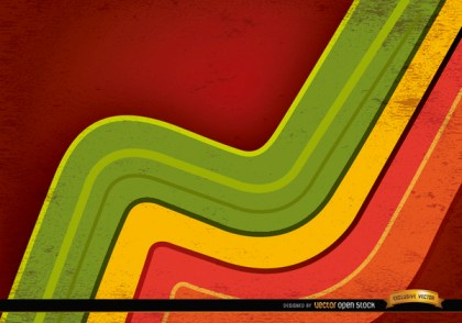 Abstract Colored Curved Lines Background Free Vector