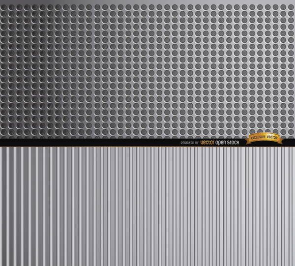 Abstract Metal Textures Background Free Vector