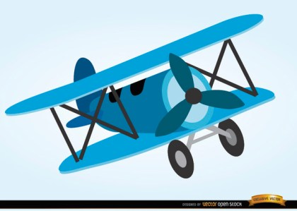 Airplane Toy Cartoon Style Free Vector