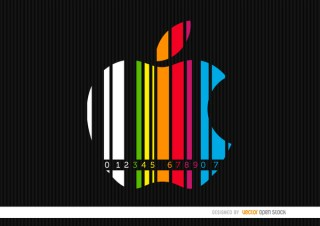 Apple Colorful Codebar Background Free Vector