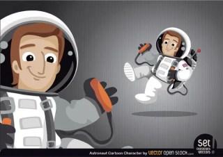 Astronaut Cartoon Character Free Vector
