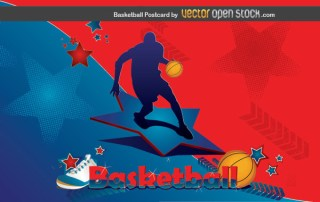 Basketball Postcard Free Vector