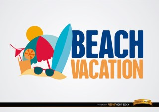 Beach Vacation Background Free Vector