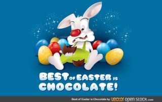 Best Of Easter Is Chocolate Free Vector