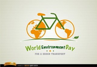 Bicycle Environment Day Green Transport Free Vector