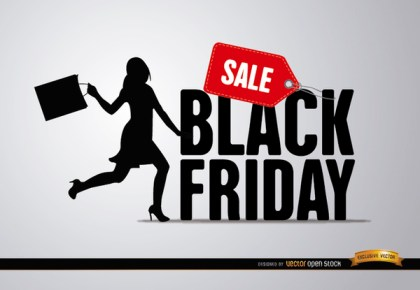 Black Friday Sale Woman Free Vector